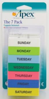 Image 0 of Pillbox 7 Pack By Apex-Carex Corp.