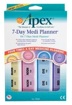 Apex 7 Day Mediplanner 70069B By Apex-Carex Corp.