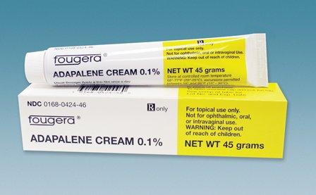 Adapalene 0.1% Cream 45 Gm By Fougera Lab.