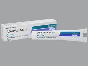 Adapalene 0.1% Gel 45 Gm By Teva Pharma.