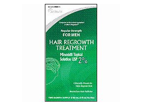 Minoxidil 2  Mens Regular Strength Hair Regrowth Treatment Solution 2X60 Ml