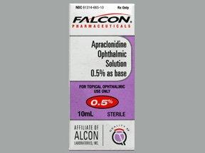 Apraclonidine 0.5% Drops 10 Ml By Sandz Rx