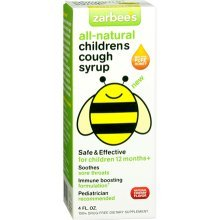 Zarbees Children Cough Syrup Cherry 4 oz
