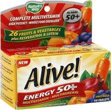 Image 0 of Alive 50+Energy 60 EA Tabs