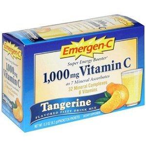 Emergen-C Vitamin C 1000 Mg Tangerine 30 Ct