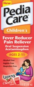 PediaCare Childrens Fever Reducer Pain Reliever Oral Suspension Grape 4 oz