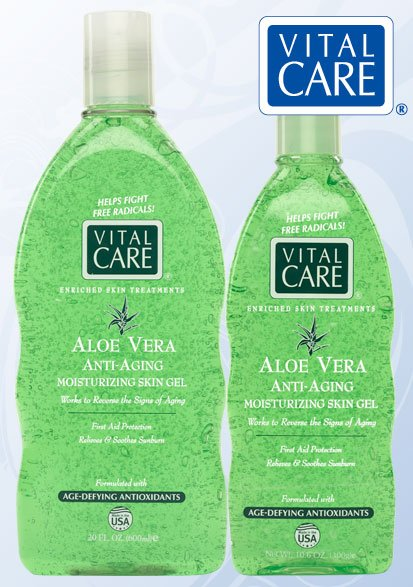 Vital Care Anti Aging Aloe Vera Gel Bottle 10 6oz