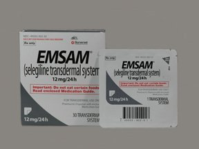 Emsam 24 Hr 12 Mg 30 Patches By Mylan Specialty.