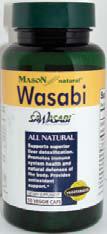 Image 0 of Wasabi 100 mg 50 Veggie Caps Mason Natural