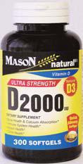 Image 0 of Mason Vitmamins Natural Ultra Strength D2000iu 300 Softgels