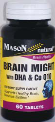 Image 0 of Brain Might with DHA & CoQ10 60 Tablets Mason Natural
