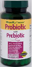 Image 0 of Probiotic with Prebiotic 1 Billion 30 Veggie Caps Mason Natural