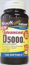 Image 0 of Mason Vitamin Advanced D 5000iu