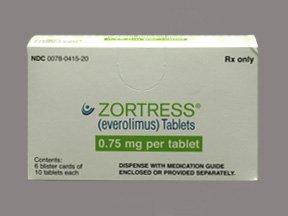 Zortress 0.75 Mg Tablets 60 By Novartis Pharma.