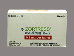 Zortress 0.50 Mg Tablets 60 By Novartis Pharma