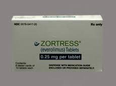 Zortress 0.25 Mg Tablets 60 By Novartis Pharma.