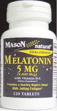 Image 0 of Mason Melatonin 5mg with Vitamin B-6 120Tabs