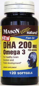 Image 0 of Mason Fish Oil DHA 200mg Omega 3 120 Softgels