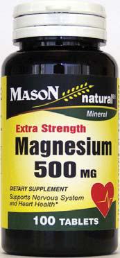 Image 0 of Mason Extra Strength Magnesium 500mg 100Tabs