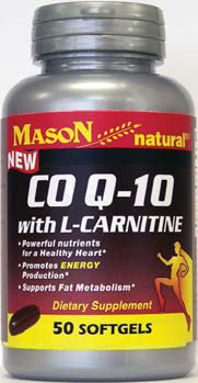 Image 0 of Mason CO Q-10 with L-Carnitine 50 Softgels