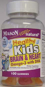 Mason Healthy Kids Gummies Brain & Heart with Omega-3 with DHA