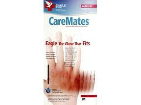 Image 0 of Caremates Gloves Latex P/F Medium 100 Ct Shepard Medical Products