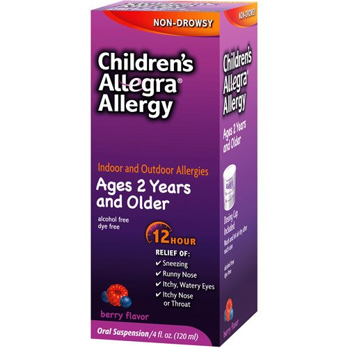 Allegra Children s Allergy Relief 12 Hour 30mg Liquid Berry 4 oz