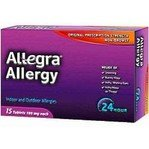 Allegra 24 Hour 180mg Blister Pack Caplet 15 each