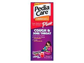 Image 0 of Pediacare Plus Cough and Sore Throat Cherry Liquid4 oz
