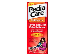 PediaCare Childrens Fever Reducer Pain Reliever Oral Suspension Cherry 4 oz