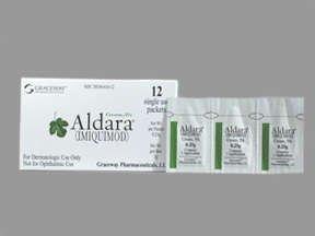 Aldara 5% Cream 12 Pack 0.25GM By Valeant Pharma.