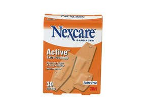 Nexcare Active Extra Cushion Bandage Assorted 30 Ct.