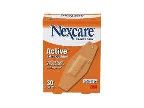 Nexcare Active Extra Cushion Bandage, One Sizes 30 Ct.