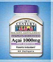 Acai Berry 1000mg Softgels 60 ct Mfg. By 21St Century Nutrition