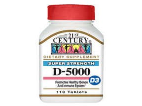 21St Century Nutrition Vitamin D3 5000IU Tablets 110 Ct