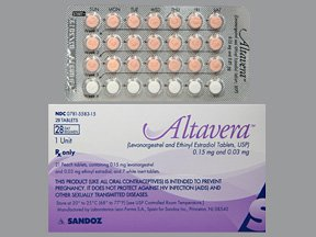Altavera 0.15-0.03 Mg 3 x 28 Tabs By Sandoz Rx.