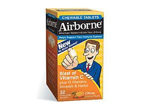 Airborne Immune Chew able Tablets Citrus 32