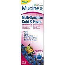 Mucinex Children s Multi Symptom Cold & Fever Liquid Berry Blast 4 oz