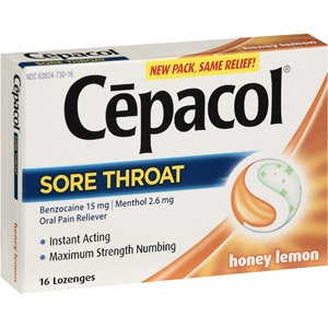Image 0 of Cepacol Maximum Strength Honey Lemon Lozenge 16 Count