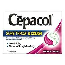 Image 0 of Cepacol Maximum Strength Lozenges Cherry 16 Count