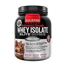 Image 0 of Six Star Pro Nutrition Whey Isolate chocolate 24 Oz