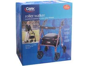 Image 0 of Carex Roller 4 Wheel Walker Loop Red