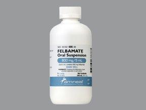 Felbamate Generic Felbatol 600mg/5ml Suspension 240 Ml By Amneal Pharma