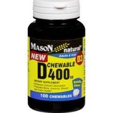 Image 0 of Mason Natural Vitamin D 400 IU Chewables - 100ct
