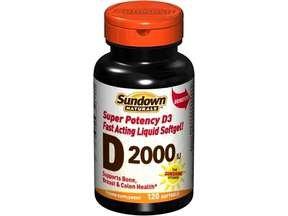 Image 0 of Sundown Naturals Vitamin D 2000IU Soft Gels 150