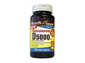 Image 0 of Mason Natural Advanced Vitamin D 5000 IU - 50 Softgels