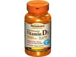 Image 0 of Sundown Naturals High Potency Vitamin D Softgels, 1000 Iu - 60 Ea