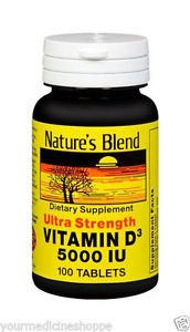 Image 0 of Natures Blend Vitamin D3 5000IU 100 Tablet