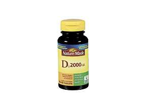 Nature Made Vitamin D3 2000 IU Tablets 100