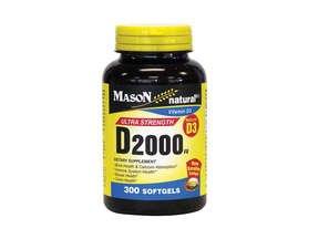 Image 0 of Mason Natural Vitamin D 2000IU Dietary Supplement Softgels - 300 Ea